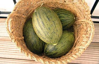 Cesta de melones de La Mancha