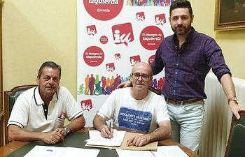 Mnuel Canales, Eduardo Villegas y Mario García.