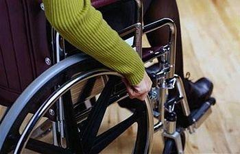 Discapacitado. Foto de archivo.