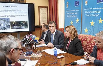 Presentación de proyecto de mejora de la seguridad vial de la ciudad con financiación europea FEDER.