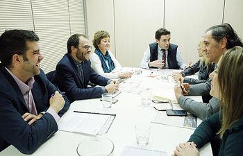 Reunión con responsables de transporte infraestructuras de PSM