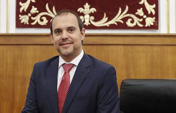 Pablo Bellido Acevedo, Presidente de las Cortes de Castilla-La Mancha. Foto: CARMEN TOLDOS