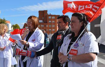 CCOO pide la reclasificación profesional del personal sanitario con una concentración en el Hospital General de Albacete.