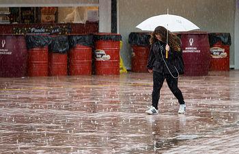 Lluvia en la Feria de Albacete. Foto: La Cerca - Manuel Lozano Garcia