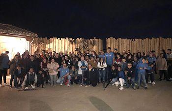 """Visita de los Voluntarios de """"la Caixa"""" al parque temático Puy Du Fou en Toledo."""