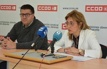 Rueda prensa CCOO y UGT Albacete.
