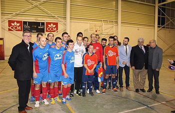 Marín en partido de fútbol de Fuentealbilla 2. Foto: JCCM.