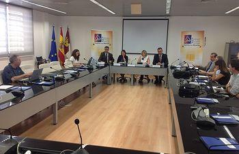 """Reunión de la presentación de la herramienta """"RSFSC"""" de desarrollo local. Foto: JCCM."""
