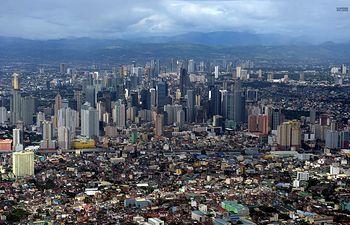 Vista de la ciudad de Manila.