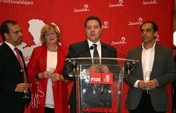 Emiliano García-Page participó anoche en la cena solidaria del PSOE de Guadalajara