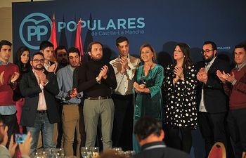Cospedal participa cena Navidad PP Toledo.