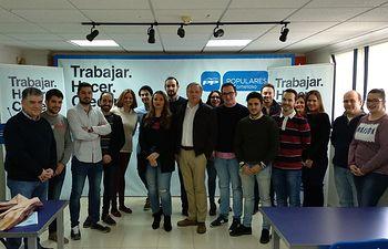 Cañizares en el Comité Ejecutivo de Nuevas Generaciones de Ciudad Real, en Tomelloso.