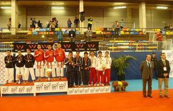 Entrega de medallas del Campeonato Mundial de Karate