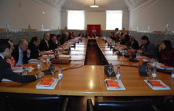Participantes en el encuentro de cátedras.