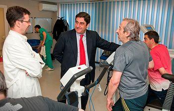 Echániz inaugura la Unidad de Rehabilitación Cardíaca del Hospital de Guadalajara. Foto: JCCM.