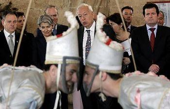 Foto encuentro Margallo-Bokova con expertos de la Naciones Unidas para Salvaguarda del Patrimonio Cultural Inmaterial(EFE)