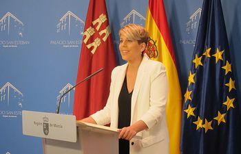 La portavoz del Ejecutivo murciano, Noelia Arroyo. Foto: lainformacion.com