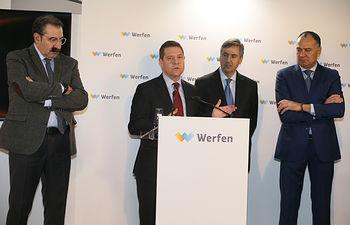 Inauguración del nuevo centro logístico de la empresa Werfen en Tarancón (Cuenca).