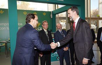 Globalcaja, con el Rey Felipe VI en el Congreso de Cooperativas Agroalimentarias