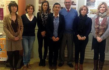 El grupo de investigación en Química y Contaminación Atmosférica de la UCLM, con Florentina Villanueva a la derecha