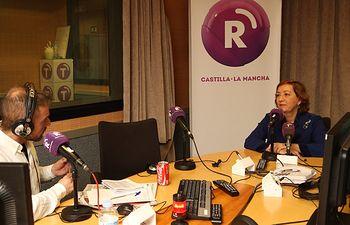 Maria Luisa Soriano en Radio Castilla La Mancha. Foto: JCCM.