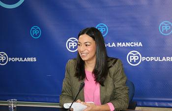 La portavoz del PP de Castilla-La Mancha, Claudia Alonso.
