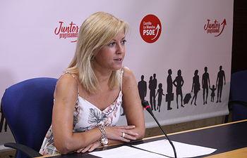 La portavoz del grupo socialista en las Cortes de Castilla-La Mancha, Ana Isabel Abengózar.