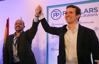 Pablo Casado, clausura el XV Congreso Extraordinario del PP de Cataluña
