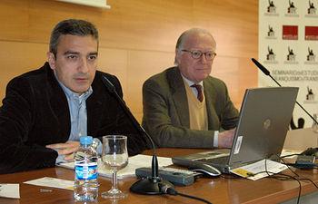 Manuel Ortiz junto a Nicolás Sartorius, en la presentación de las jornadas