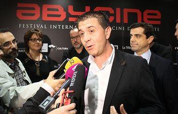 Santiago Cabañero, presidente de la Diputación de Albacete, en ABYCINE 2016