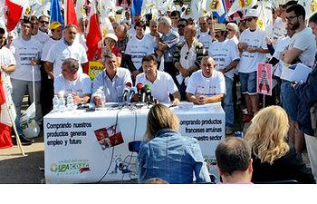 """Miguel Blanco: """"las soluciones pasan por precios justos y remunerativos para los ganaderos de leche"""". Foto: COAG."""