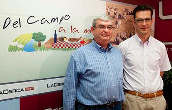 De izquierda a derecha, Juan de Dios García Martínez (Presidente de la Federación de Caza de Castilla-la Mancha) y Luis Fernando Villanueva (Presidente de APROCA C-LM, la Asociación de Propietarios Rurales para la Gestión Cinegética y Conservación del Medio Ambiente)