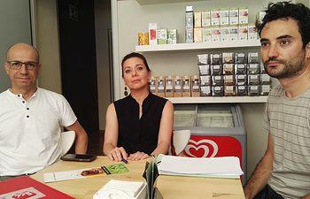 Javier Sánchez, Beatriz Pestaña y Sergio López.
