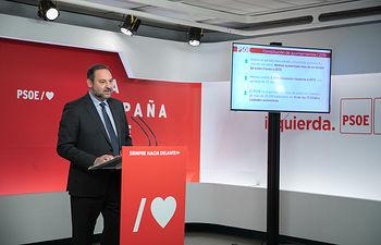 Rueda de prensa de José Luis Ábalos.