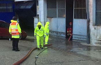 Intervención de los bomberos en Cuenca.