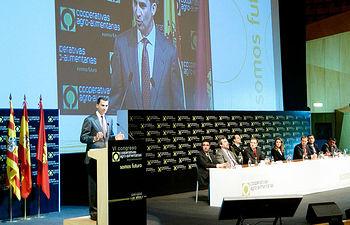 Intervención del Rey Felipe en el VI Congreso. Foto: Cooperativas Agro-alimentarias.