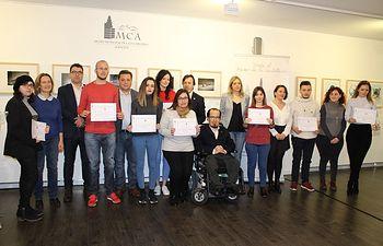 Acto de clausura y entrega de los diplomas correspondientes a la quinta edición del programa de becas para jóvenes titulados.
