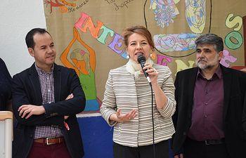 Consejera de Bienestar, Aurelia Sánchez en Herencia.