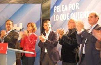 Javier Rojo participó en el mitin que tuvo lugar en Hellín.