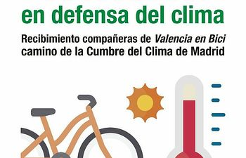 Cuenca recibe a biciactivistas camino de la COP25 de Madrid.