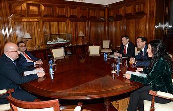 Jaime Haddad se reúne con representantes de la Asociación Nacional de Productores de Ganado Porcino. Foto: Ministerio de Agricultura, Alimentación y Medio Ambiente