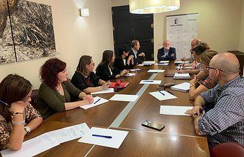 Foto JCCM Albacete- Comisión Salud y Seguridad Laboral. Reunión extraordinaria.
