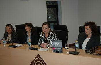 De izqda a dcha, Carmen González, Marina Gascón, Nuria Garrido y Josefa Cantero.