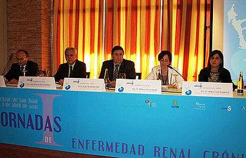 Jesús Hernández asistió hoy en Alcázar de San Juan a las I Jornadas de Enfermedad Renal Crónica