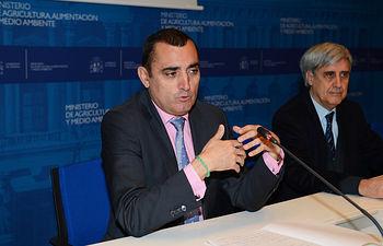 Valentín Almansa participa en la presentación del Livestock Fórum. Foto: Ministerio de Agricultura, Alimentación y Medio Ambiente