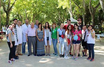 Julián Garijo y María Gil participan en las actividades de la campaña 'Muévete por la salud'.