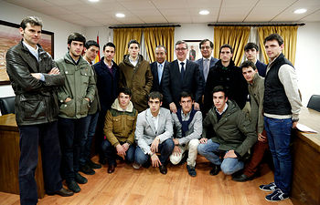 Marín en la presentación del I Certamen Alfarero de Plata 1. Foto: JCCM.