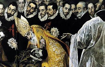 """Una de las obras de El Greco: """"El entierro del Conde Orgaz"""""""