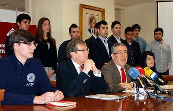 De izda. a dcha: Luis Miguel Cano, Miguel Ángel Collado, Pedro Carrión y Ana Isabel Gómez.