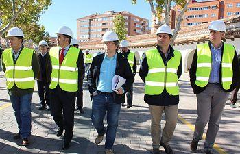 Visita obras rehabilitación del Recinto Ferial de Albacete.